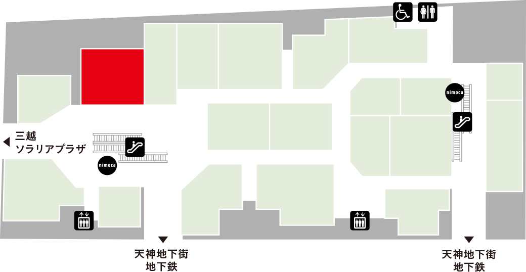 ひょうたんの回転寿司フロアマップ