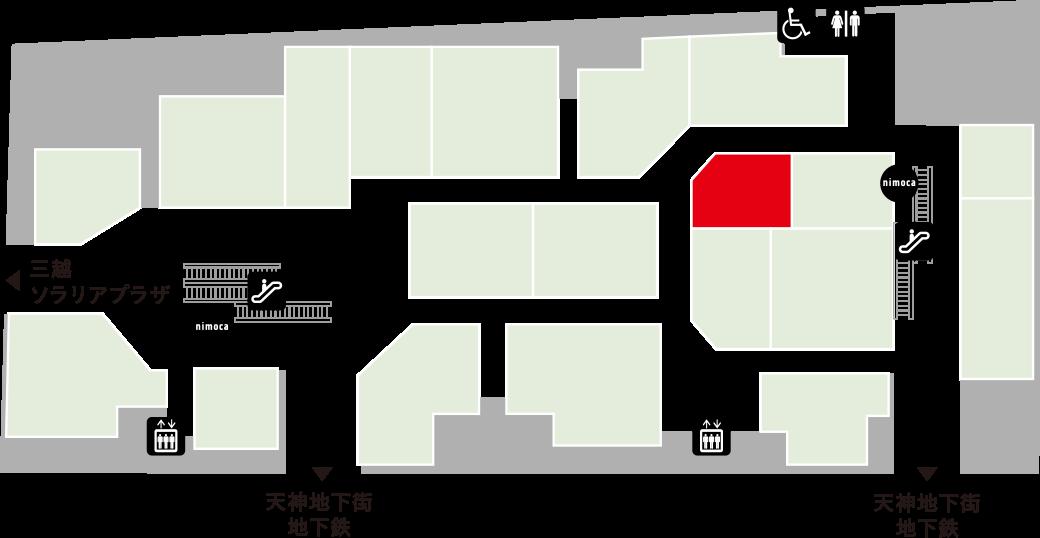 博多海鮮食堂 魚吉フロアマップ