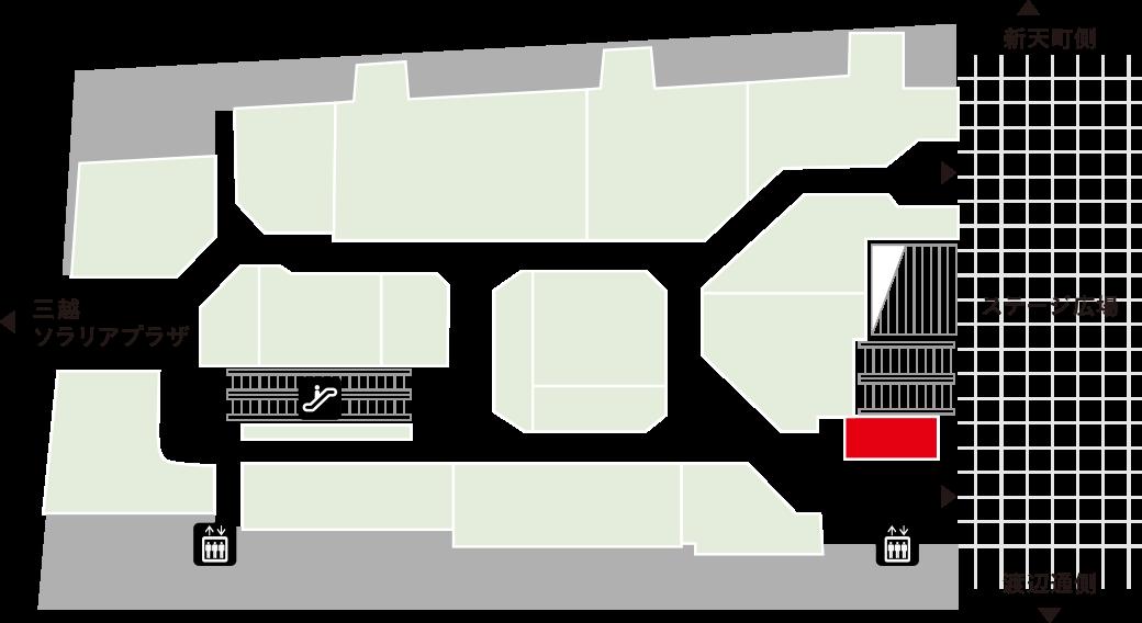 青山フラワーマーケットフロアマップ