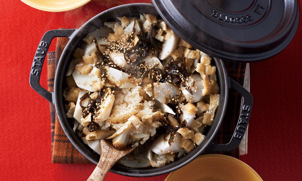 里芋とごぼうの炊き込みご飯